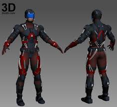 format file atom 3d printable model atom full body armor suit and helmet print file