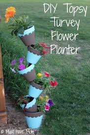 diy topsy turvy flower planter with step by step tutorial