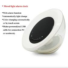 dc5v digital led alarm clock rgb white touch color changing