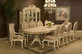 Aico Furniture Dining Room Sets Aico Furniture Lavelle Blanc 9 Dining Room Set With China