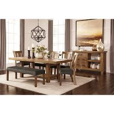 ashley dining table with bench large upholstered dining room bench by signature design by ashley