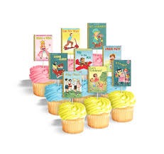 printable cupcake toppers or cake bunting for book themed party or
