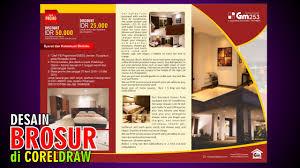 contoh desain brosur hotel desain brosur promo hotel tutorial coreldraw youtube