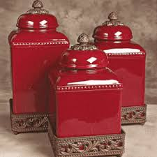 red canisters kitchen decor red tuscan style canisters you could add some canisters like