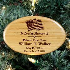 engraved military memorial ornament wood neat stuff gifts
