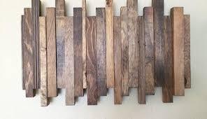 nonsensical reclaimed wood wall artis artist ark diy etsy