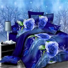 bedding set blue flower family comforter