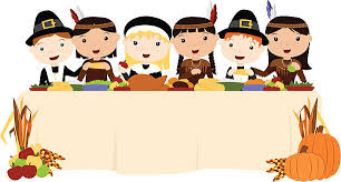 royalty free thanksgiving dinner table clip vector images