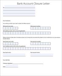 brilliant ideas of format of letter to bank for account closing