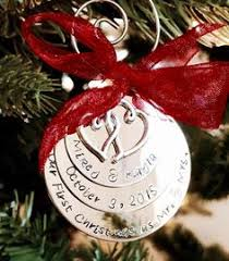 personalized christmas ornament she said yes engagement ornament
