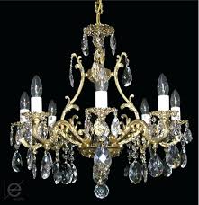 Vintage Crystal Chandeliers Vintage Crystal And Brass Chandelier Antique Brass And Crystal
