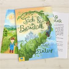 and the beanstalk personalised story book fudge