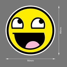 Awesome Meme Face - awesome meme face yellow jdm sticker fana shop