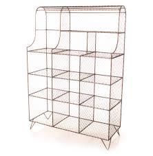 Wire Photo Display Industrial Vintage 5 Tier Chicken Wire Merchandise Display Shelf