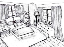 Bedroom Interior Design Sketches Modern Interior Room Sketch Hand Drawn Illustration Save To A