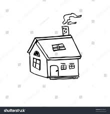 house outline vector illustration stock vector 96738421 shutterstock