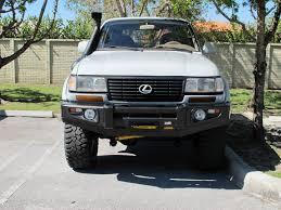 lexus lx470 black grill dobinsons front winch bumper options ih8mud forum