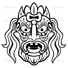 12 best images of mayan mask template printable mayan mask