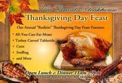 thanksgiving day feast at via brasil steakhouse