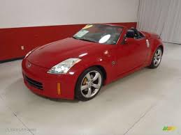 Nissan 350z Red - nogaro red 2008 nissan 350z grand touring roadster exterior photo