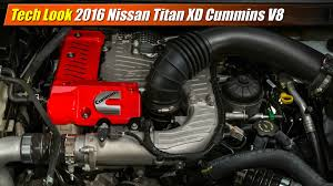 Dodge Ram Cummins Specifications - tech look 2016 nissan titan xd cummins v8 youtube