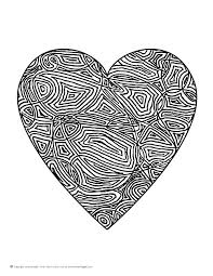 printable hearts coloring pages heart coloring pages adults