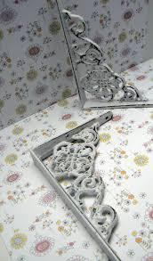 Shabby Chic Shelf Brackets by Shelf Bracket Cast Iron Shabby Chic Floral Brace White 1 Pair Diy