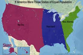The Map Of United States Of America by If Every U S State Had The Same Population What Would The Map Of