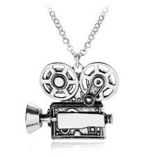 antique necklace chain images Antique movie camera pendant fashion jewelry dome necklace chain jpg