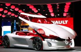 concept renault the renault trezor concept car is setting the paris motor show