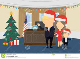 trump in santa hat in white house editorial photography image