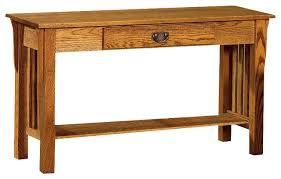 Oak Sofa Table Oak Sofa Tables Traditional Oak Sofa Table With Raised Panel Sides