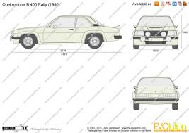 opel ascona 400 the blueprints com vector drawing opel ascona b 400 rally