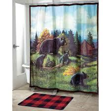 avanti black bear lodge shower curtain shower curtains u0026 bath