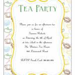 free high tea party invitation templates orax info