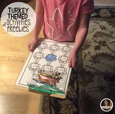 turkey themed freebie lessons and activities for preschool