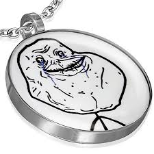 Internet Meme Faces - com stainless internet meme faces forever alone pendant