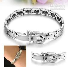steel stainless magnetic bracelet stainless images New 16 grains magnetic therapy stainless steel bracelet fashion jpg