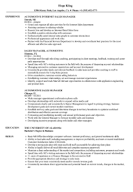 retail sales manager resume experience automotive sales manager resume sles velvet jobs