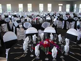 Black And White Chair Covers Black And White Wedding Theme My Detroit Wedding