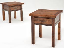 wood end tables with drawers our modest heritage collection end table features a rough soft
