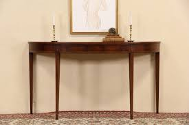 wellington hall end table sold wellington hall signed demilune hall console table inlaid