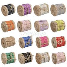 colored burlap ribbon multi colored burlap rolls 5 rolls burlap ribbon roll with