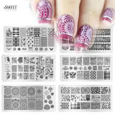1pcs fashion image design polish printing stamp template nail