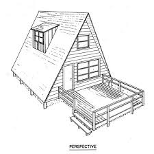 free a frame cabin plans cottage plans a frame homes zone