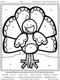 multiplication turkey tracks and feather facts math printables