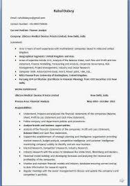 Resume Template Finance Financial Analyst Resume Financial Analyst Resume Template