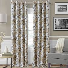 Thermal Panel Curtains Elrene Home Fashions Sorrento Nature Floral Blackout Thermal