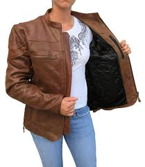 leather motorcycle coats womens retro brown cafe u0027 style scooter motorcycle jacket item