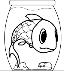 giant fish small fish bowl coloring download u0026 print